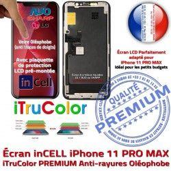 Verre Tactile Multi-Touch PREMIUM PRO Écran iPhone Apple MAX inCELL LCD Tone SmartPhone Retina Réparation 11 HD True Affichage