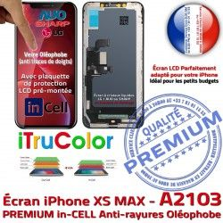 Oléophobe Retina LCD Vitre Cristaux iPhone HDR In-CELL Remplacement in-CELL PREMIUM Touch Écran 6,5 Apple in Liquides SmartPhone A2103 Super