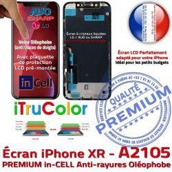 6,1 Affichage Super Écran XR True Retina in A2105 Vitre Tactile PREMIUM Cristaux Apple Liquides iPhone SmartPhone Tone inCELL