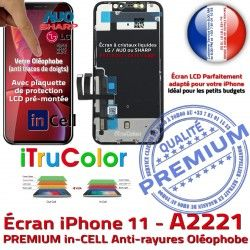 6.1 Retina Super Oléophobe HDR SmartPhone Apple pouces Vitre Écran Changer LCD in-CELL Tone True In-CELL iPhone Affichage PREMIUM A2221