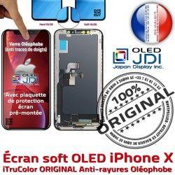 Remplacement Qualité sur Écran X Oléophobe Touch Multi-Touch Châssis iPhone Apple soft ORIGINAL HDR 3D OLED Vitre Verre Tactile