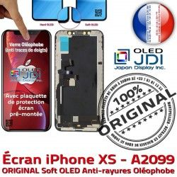 Affichage Châssis Vitre True 5,8 Retina A2099 OLED Tone SmartPhone Tactile ORIGINAL sur soft XS iPhone Assemblé Apple pouces Écran Super