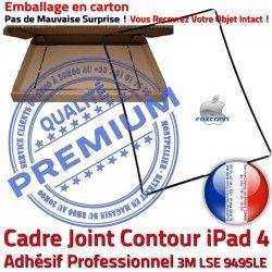 Tablette Vitre Joint N Ecran iPad Apple Plastique Tactile Châssis Noir Cadre ABS Réparation Autocollant Precollé Adhésif Contour 4