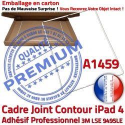 Blanc Adhésif Réparation Vitre A1459 Plastique 4 Contour Tactile Apple Cadre Autocollant Joint Châssis Tablette B iPad ABS Ecran