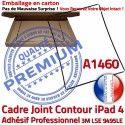 PACK iPad 4 A1460 iLAME Joint N Outils Tactile Chassis Vitre Adhésif Verre Tablette Noire Apple HOME Precollé Bouton KIT iPad4 Réparation Cadre