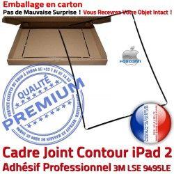 Vitre Plastique Contour Tactile Châssis Apple Tablette Noir 2 Adhésif Ecran N Cadre Precollé Autocollant iPad ABS Réparation Joint