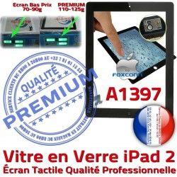 2 iPad2 HOME Caméra Precollé Ecran Qualité Tactile PREMIUM Apple Oléophobe A1397 Fixation Adhésif Verre Vitre iPad Noir Bouton Remplacement