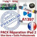 PACK iPad2 A1397 B Démontage Adhésif Vitre Blanche Verre PREMIUM 2 iPad Bouton Réparation Outils Tactile KIT HOME Precollé Qualité Oléophobe
