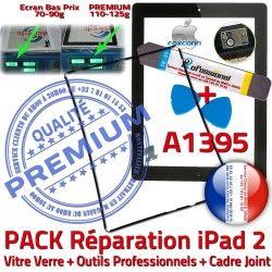 Outils N Tablette Tactile PACK iPad HOME Adhésif Bouton Vitre Chassis 2 iPad2 Joint Apple iLAME KIT Cadre A1395 Noire Verre Precollé Réparation