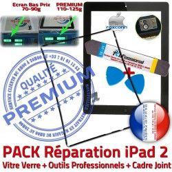 iLAME Vitre 2 Réparation Precollé Noire Tablette PREMIUM Outils iPad2 Adhésif Joint Tactile Verre Apple Chassis HOME iPad N PACK KIT Bouton Cadre