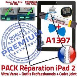 Réparation Chassis Outils Tablette PACK Tactile KIT HOME Adhésif 2 Apple iPad A1397 Bouton Precollé iPad2 Vitre Noire N Joint iLAME Cadre Verre