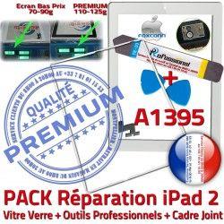 Réparation Outils Vitre Joint A1395 Blanche Cadre iPad2 Tactile Precollé PREMIUM Verre Tablette Bouton HOME Apple Adhésif iPad iLAME B 2 PACK