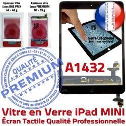Mini1 Tactile Fixation iPad Nappe A1432 Réparation Ecran Adhésif Noir Tablette Oléophobe Home Monté Verre Caméra Vitre Bouton Filtre