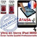 iPad Mini1 A1454 Noir Caméra Tactile Home Tablette Vitre Verre Réparation Bouton Adhésif Nappe Monté Oléophobe Fixation Ecran Filtre
