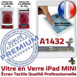 Verre A1432 Monté Ecran Fixation Home Filtre Tablette Oléophobe iPad Bouton Adhésif Mini1 Caméra Tactile Nappe Réparation Vitre Blanc