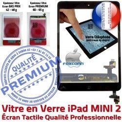 iPad A1490 Verre 2 Bouton Monté Caméra Nappe Vitre Tablette A1489 N Ecran MINI Filtre Fixation Adhésif Mini2 Oléophobe Noir A1491 Réparation Tactile Home
