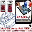 iPad Mini2 A1490 Noir Verre Tactile Vitre Oléophobe Réparation Adhésif Monté Tablette Home Bouton Fixation Nappe Ecran Caméra Filtre