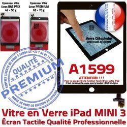 Caméra Filtre A1599 Réparation Monté Fixation Tactile Adhésif Tablette iPad Oléophobe Home Ecran Nappe Bouton Vitre Mini3 Noir Verre