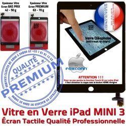 Tactile Caméra Verre Nappe iPad Home Bouton Monté Réparation Mini3 Tablette Adhésif Vitre Filtre Ecran A1601 Oléophobe Noir Fixation