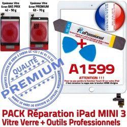 iPad Outils Mini Réparation Vitre Qualité PREMIUM ID B Adhésif Attention Blanche A1599 KIT PACK 3 MINI Tactile Verre Tablette Complet Touch