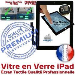 Qualité HOME Réparation Installé iPad3 Caméra Bouton Noire Apple iPad4 Verre Vitre Tactile Ecran PREMIUM Adhésif Fixation Precollé iPad Oléophobe