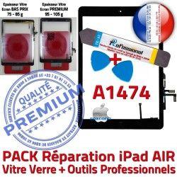 PREMIUM Vitre Réparation Outils Tactile iPad AIR Precollé Bouton Verre KIT Qualité N PACK Adhésif Démontage HOME Oléophobe Noire A1474