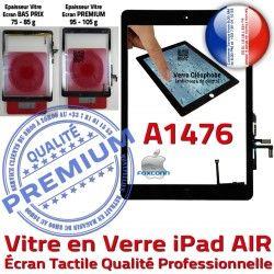 Nappe HOME Tablette Adhésif Ecran Réparation AIR Tactile Monté Caméra Verre Noir Qualité IC Oléophobe Fixation A1476 Vitre iPad
