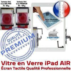 AIR Caméra A1475 Adhésif Precollé Blanc A1476 Tactile A++ Qualité Bouton Ecran Vitre Verre iPad Remplacement HOME Fixation Oléophobe iPadAIR A1474 PREMIUM