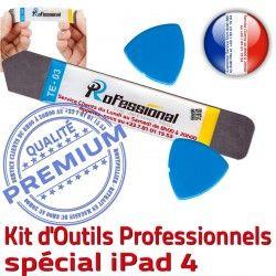 A1458 Outils Ecran Remplacement Démontage iSesamo Compatible A1459 iPad4 Tactile A1460 Réparation iPad Qualité PRO KIT Vitre Professionnelle iLAME 4