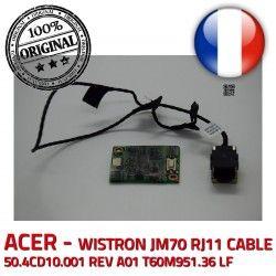 LF Acer ASPIRE 56K Board ORIGINAL CABLE T60M951.36 RJ11 ACER 50.4CD10.001 JM70 Modem T60M951 WISTRON