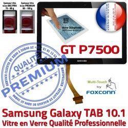 Adhésif Assemblée Vitre PREMIUM en TAB Supérieure Tactile Samsung GT Prémonté 10.1 Ecran Qualité LCD N Verre Noire Galaxy 10 GT-P7500 P7500