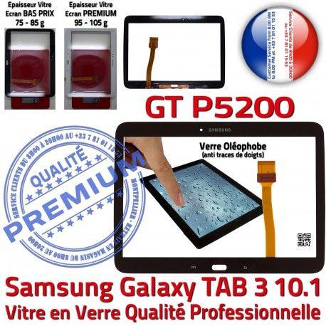 Samsung Galaxy GT-P5200 Tab3 N Vitre 10.1 Tactile PREMIUM Adhésif Qualité TAB3 Prémonté Assemblée Ecran en Verre Supérieure Noire LCD