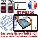 Samsung Galaxy GT-P5220 Tab3 N Noire Vitre Qualité Verre Tactile Ecran en Supérieure 10.1 Prémonté LCD Assemblée Adhésif PREMIUM TAB3