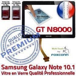 Galaxy Vitre Noire PREMIUM 10.1 en Supérieure Assemblée Qualité Samsung Ecran Adhésif GT-N8000 GT Tactile Verre N8000 Prémonté NOTE LCD N