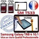 Samsung Galaxy SM-T533 Tab4 N Noire PREMIUM Vitre LCD Adhésif TAB4 Qualité Verre Ecran 10.1 Tactile Supérieure en Prémonté Assemblée