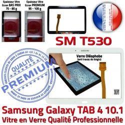 LCD Vitre SM-T530 en Supérieure Ecran Verre SM Assemblée TAB Galaxy Samsung T530 4 Prémonté Blanche PREMIUM Qualité B 10.1 Tactile TAB4 Adhésif