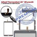 Samsung Galaxy SM-T230 TAB4 B Adhésif LCD Prémonté Ecran Assemblée Tactile Supérieure Vitre inch Verre Blanche 7 Qualité PREMIUM