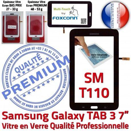 Samsung Galaxy SM-T110 Tab3 N Qualité 7 en Tactile Ecran Adhésif TAB3 Verre PREMIUM LCD Prémonté Assemblée Noire Supérieure Vitre