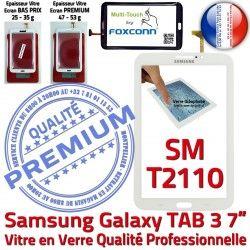TAB LCD B TAB3 Tactile Ecran 3 Blanche 7 Galaxy SM-T2110 Vitre PREMIUM SM Prémonté Assemblée en Supérieure Verre T2110 Qualité Samsung Adhésif