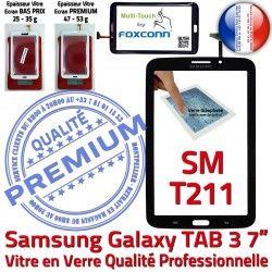 Ecran SM SM-T211 Galaxy N T211 PREMIUM LCD TAB TAB3 3 Samsung Prémonté Noire Qualité Vitre 7 Tactile en Verre Adhésif Supérieure Assemblée
