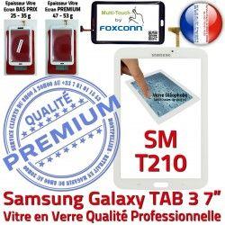 SM en SM-T210 Samsung Ecran 3 Blanche Qualité TAB Assemblée Prémonté Verre T210 B TAB3 Supérieure LCD PREMIUM Vitre Galaxy 7 Tactile Adhésif