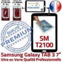 Samsung Galaxy TAB 3 SM-T2100 N Qualité TAB3 Ecran Adhésif 7 PREMIUM Supérieure LCD Tactile Noire Prémonté en Vitre Assemblée Verre T2100 SM