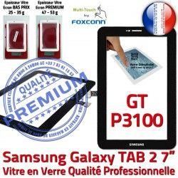 Qualité GT-P3100 Galaxy PREMIUM Verre en LCD 7 Prémonté 2 GT Ecran Adhésif N Noire Vitre Tactile Supérieure TAB2 Assemblée P3100 Samsung TAB