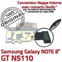 Samsung Galaxy GT-N5110 NOTE C Qualité Contact Nappe N5110 Doré Charge MicroUSB ORIGINAL Chargeur Connecteur GT de OFFICIELLE Réparation