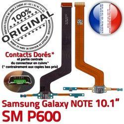 Charge Galaxy Doré USB Nappe Réparation ORIGINAL NOTE Qualité Chargeur Contact SM-P600 Samsung SM Connecteur P600 Pen MicroUSB OFFICIELLE de Micro