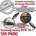 SM-P600 Micro USB NOTE Charge de P600 Samsung Nappe Qualité Contact MicroUSB ORIGINAL Chargeur SM Connecteur Pen Réparation OFFICIELLE Doré Galaxy