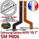 SM-P605 Micro USB NOTE Charge Contact ORIGINAL Qualité SM Chargeur Doré Pen OFFICIELLE MicroUSB P605 Samsung Connecteur Nappe Galaxy Réparation de