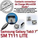 Samsung Galaxy Tab 3 T111 USB Dorés Micro inch à TAB Connecteur Connector de Dock Chargeur charge SM souder Pins Prise ORIGINAL 7