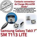 Samsung Galaxy Tab 3 T113 USB 7 Connecteur Pins SM Chargeur souder Connector Micro de TAB charge Dock Dorés Prise ORIGINAL inch à