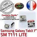 Samsung Galaxy Tab 3 T111 USB Micro SM à TAB Pins de charge Dock souder Prise Chargeur Connecteur Dorés ORIGINAL Connector 7 inch